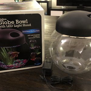 Fish Bowl with LED Light 1-Gallon For Betta Fish for Sale in Edgewood, FL