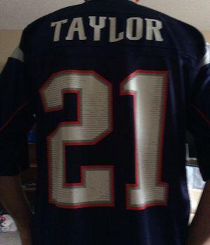 Reebok Patriots NFL Jersey, Large Size, # 21 Taylor for Sale in Pinellas Park, FL