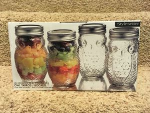 Stylesetter Set of 6 Owl Canning Jars with Metal Lids for Sale in Twinsburg, OH