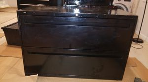 Black HON horizontal file cabinet clean and lasts forever for Sale in Sterling, VA