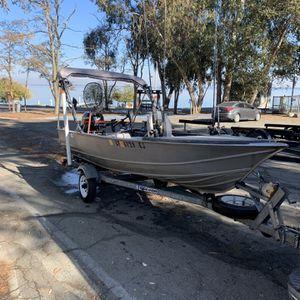 14Ft Aluminum Boat & Mercury 25hp Four Stroke Outboard for Sale in San Jose, CA
