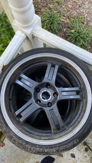 18x8 5 lug enkei wheels w/ tires for Sale in Quinton, VA