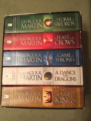 George R. R. Martin's A Game of Thrones 5-Book Boxed Set (Song of Ice and Fire Series): A Game of Thrones, A Clash of Kings, A Storm of Swords, A Fea for Sale in San Jose, CA