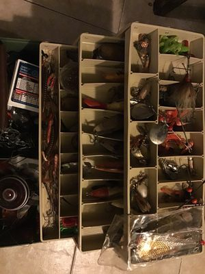 Plano Fishing Box LOADED.....With everything you need 2 fishing reels Awesome buy for Sale in Phoenix, AZ