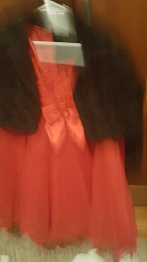 Beautiful red holiday dress and fancy black jacket for Sale in Lynnwood, WA