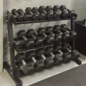 *NEW Dumbbells Dumbbell Set 5-50 or 5-75 COMPLETE w Rack Olympic Weights Home Gym Bar Barbell Equipment Dumbells Dumbell Set - FULL SET w Rack for Sale in Mansfield, TX