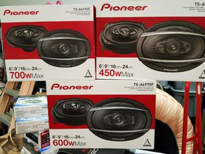 New!!! Pioneer 6x9 Speakers. 450 watts, 600 watts, 700 watts!! Low prices. for Sale in Tolleson, AZ