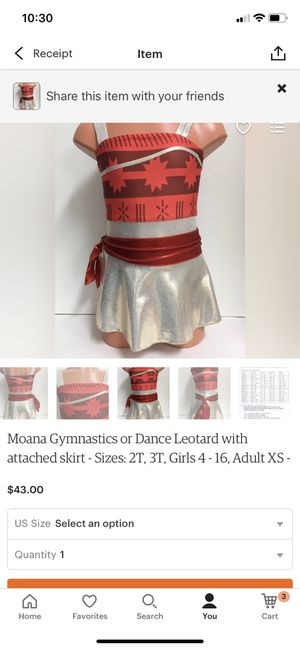 Brand new Moana leotard for Sale in Fowler, CA