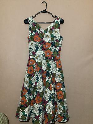 Rockabilly floral inspired v-neck dress for Sale in El Monte, CA