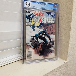 Web Of Spider-Man #1 Cgc 9.4 1st App Of The Vulturions Marvel Comics 1985 for Sale in Mount Hamilton, CA