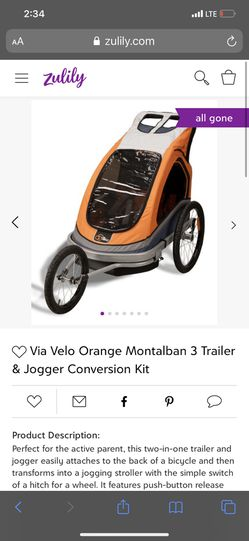 Jogger baby runner toddler trailer bikes for Sale in Modesto,  CA