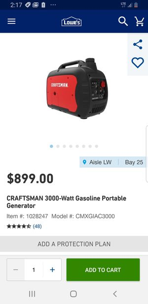 Craftsman generator for Sale in Austell, GA
