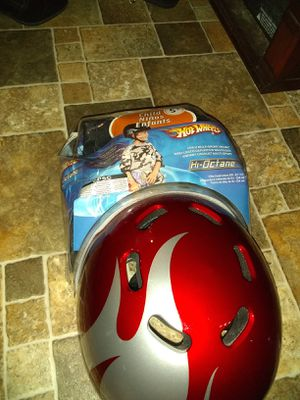 Helmet and knee pads for Sale in Monahans, TX