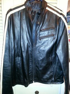 NEW lather riding jacket very nice size large for Sale in Glen Burnie, MD