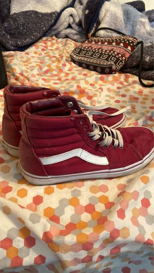 Burgundy high top vans for Sale in Tulare, CA