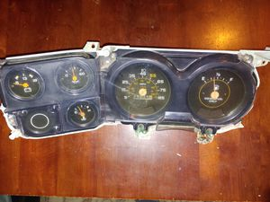 Chevy square body c/k dash cluster and cover for Sale in Bellwood, IL