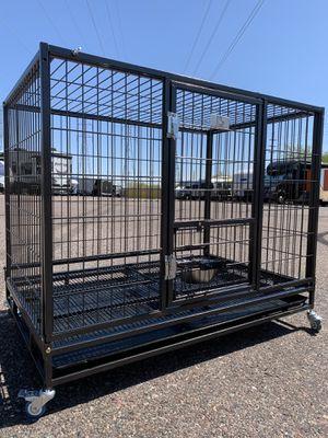 "43"" Excellent Folding Kennel 🐶🐶 w/ Durable 💪 Plastic Tray, Heavy Duty Locks 🔐( Escape Proof ) for Sale in Mesa, AZ"