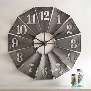 Pier 1 Galvanized Wall Decor/Clock for Sale in Sunbury, OH