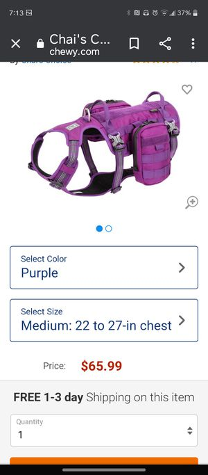 Dog backpack harness for Sale in Largo, FL