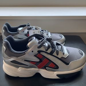Adidas Yung-96 Chasm Gray Scarlet Silver Metallic Shoes Men's Size 8 , 8.5 , 10 for Sale in Ithaca, NY