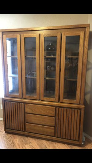 Contemporary Oak China hutch by Pure & Simple for Sale in Tolleson, AZ