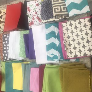Cloth Pieces ( Fabrics Scraps LOT of 15 Pcs) Quilting Or Face Masks for Sale in Byron, GA