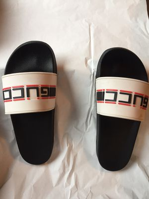 Used Gucci slide size 46. Fit size 11 and 12 $200 OBO for Sale in Dublin, OH