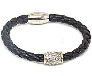 Braided leather two tone bangle bracelet for Sale in Orlando, FL