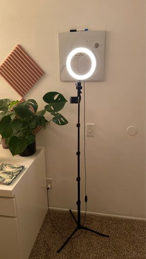 Like New Selfie Stand Ring Light Tripod Phone Holder! for Sale in Newport Beach, CA