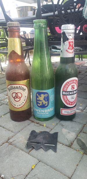 Decorative Beer Memorabilia. Ballentine, Lowebrau, Beck's for Sale in Queens, NY