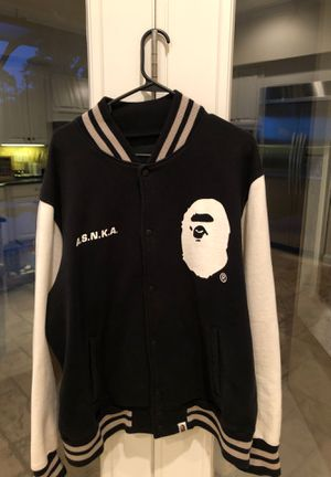 Bape varsity jacket size adult large for Sale in Ponte Vedra Beach, FL