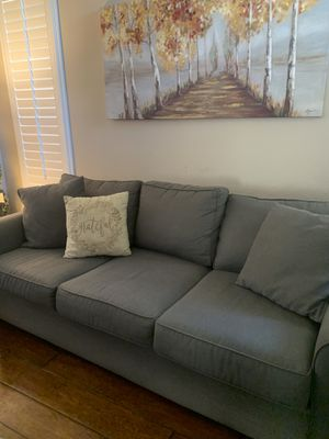 Macy's Grey Sofa & Chair for Sale in San Marcos, CA