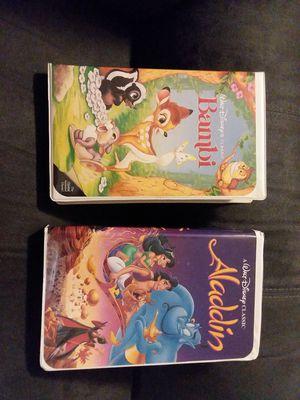 Limited Edition Orginal Disney VHS Bambi & Aladdin for Sale in Lutz, FL