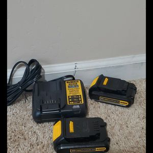 Brand new never used Dewalt 2 batteries and charger $$ 65 firm for Sale in Bakersfield, CA