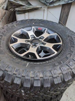Jeep Wrangler Rubicon wheels and tires. Like new for Sale in Corona, CA