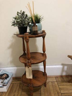 3-tier wooden end table for Sale in Washington, DC