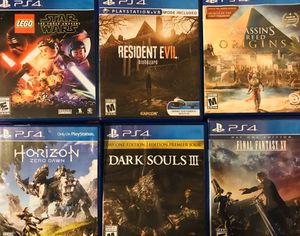 PS4 $15 each for Sale in San Diego, CA
