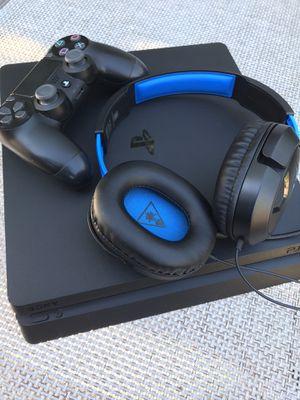 Playstation 4 Slim w/ Controller & Headset for Sale in Phoenix, AZ