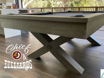 Rustic Pool Table- BRAND NEW IN BOX- Free Delivery/Setup- Any Color Felt- CHIEF BILLIARDS for Sale in Fullerton,  CA