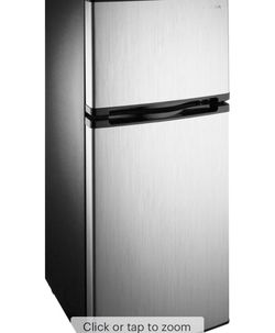 Insignia™ - 4.3 Cu. Ft. Mini Fridge with Top Freezer - Stainless steel for Sale in Hayward,  CA