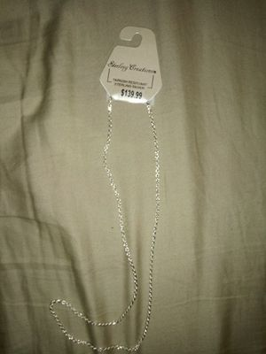 20' Die Cut Silver Rope Chain for Sale in Sebring, FL