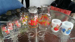 Strawberry Shortcake 1980s antique collectible glasses mugs cookie jar water carafe dishes for Sale in Lehigh Acres, FL