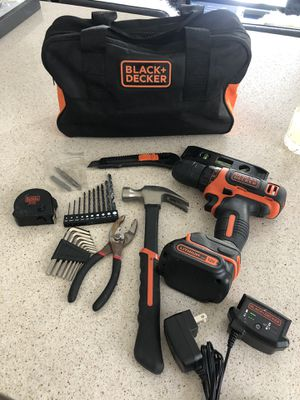 Black & Decker Drill & Tool Set + Bag for Sale in Irvine, CA