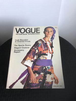 VINTAGE VOGUE PATTERN INTERNATIONAL BOOK for Sale in US