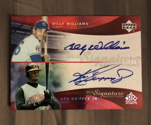 2005 Upper Deck Reflections Ken Griffey Jr and Billy Willams dual auto baseball card for Sale in Rutland, MA