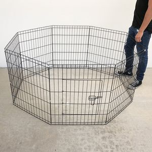 """New in box $35 Foldable 30"""" Tall x 24"""" Wide x 8-Panel Pet Playpen Dog Crate Metal Fence Exercise Cage Play Pen for Sale in Whittier, CA"""