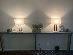 Slim dark grey sofa table for Sale in Garden Grove, CA