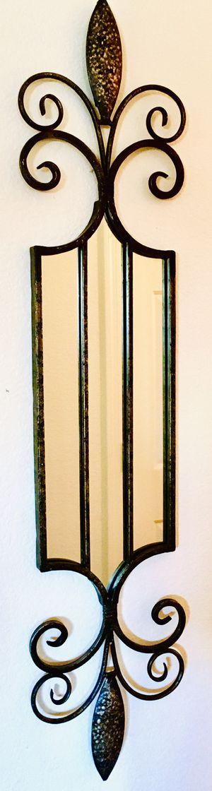 Metal wall art framed mirror - L47xH10.5 inch for Sale in Chandler, AZ