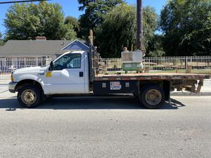 1999 7.3 DIESEL FORD F450 FLATBED WORK TRUCK RUNS GREAT READY FOR WORK for Sale in Anaheim, CA