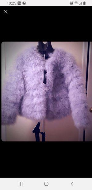BCBGMAZXAZRIA new ostrich jacket for Sale in Woodbridge, VA